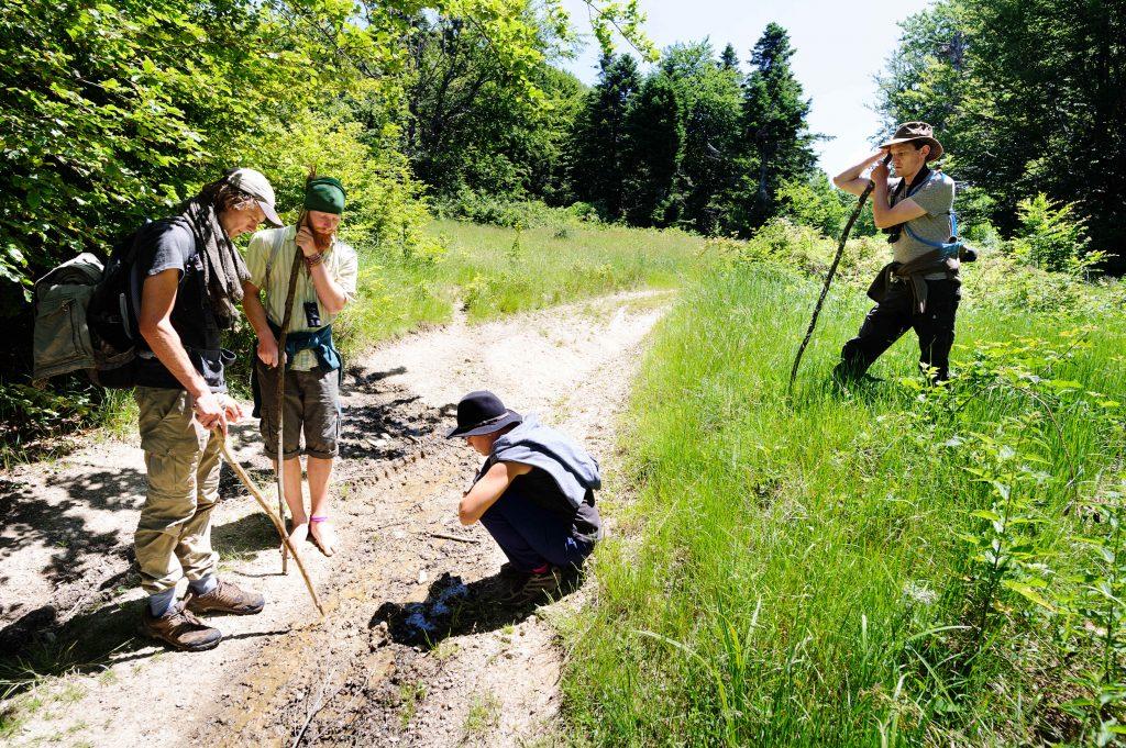 Biologi în teren în Măgura Zimbrilor ©Bogdan Comănescu